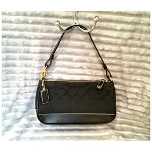 COACH Black Mini Baguette Bag Purse Handbag Cover